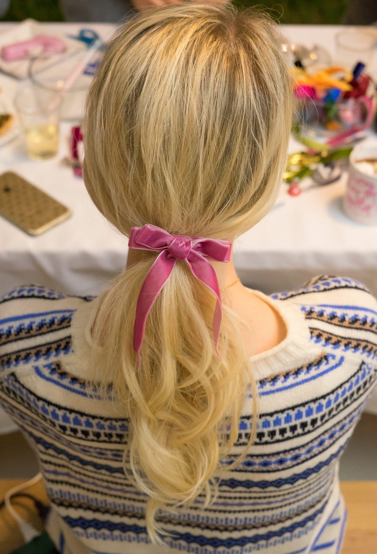 Kyla's velvet bow!