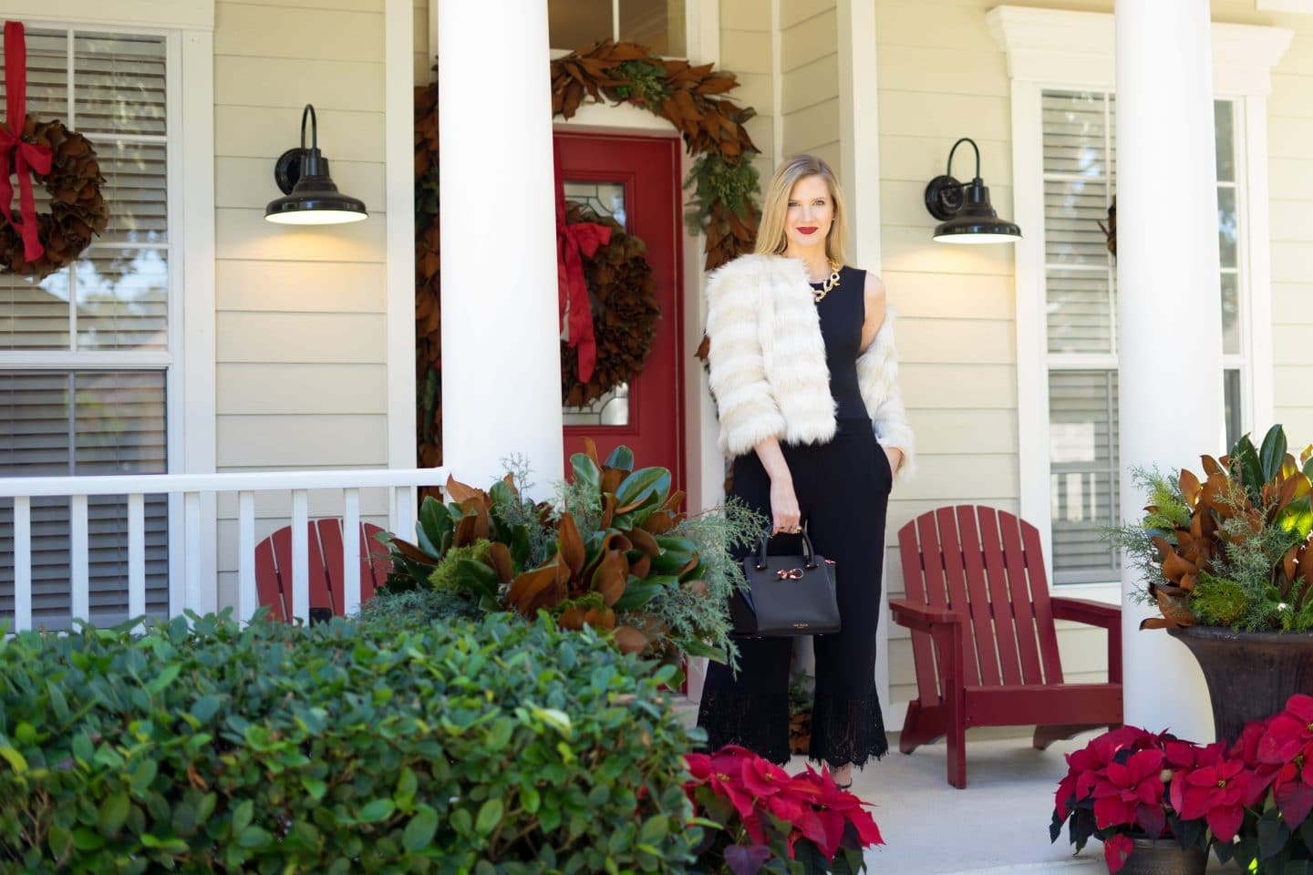 What to wear to a holiday party - Ashley Brooke | www.ashleybrookedesigns.com