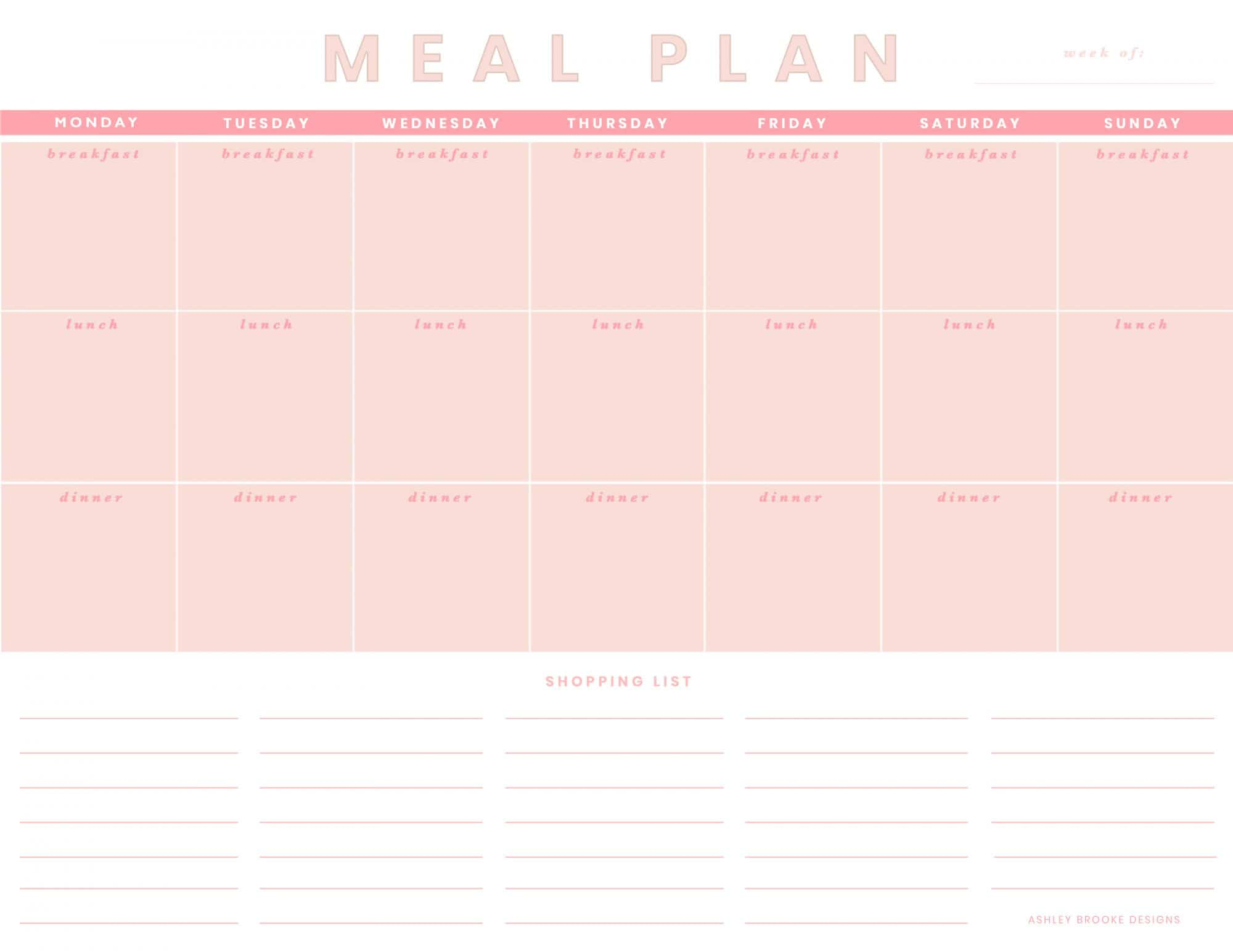 Meal prepping made easy - Free Download | www.ashleybrookedesigns.com