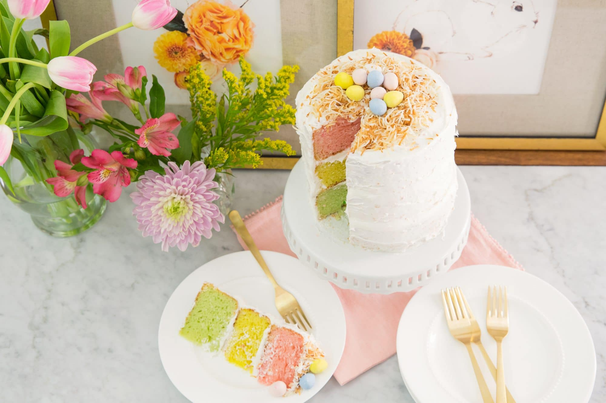 Easter Ombre Cake - 11 -1