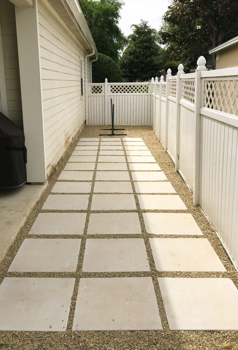 Beautiful Stepping Stone and Gravel Patio - Ashley Brooke Designs