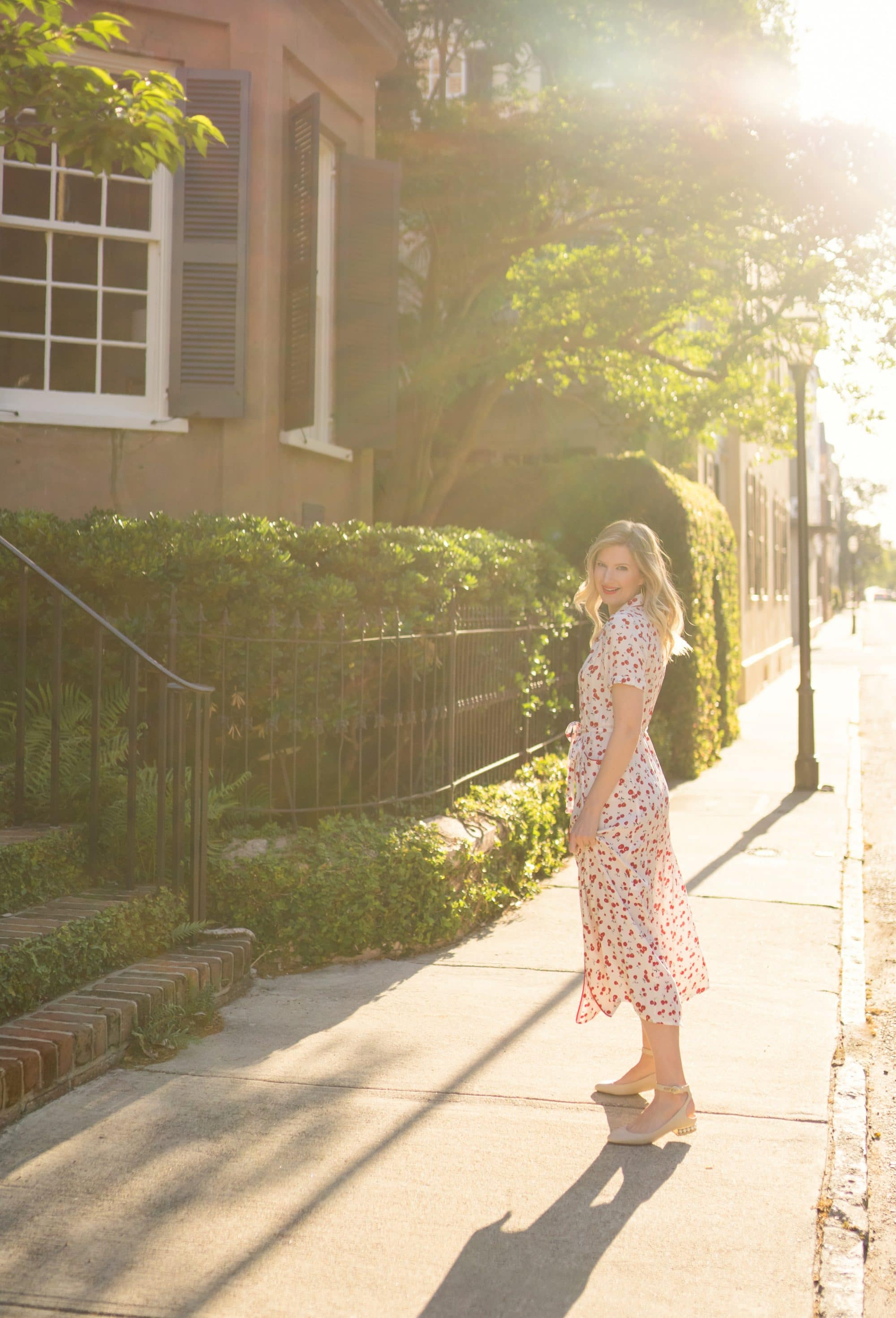 Hampden Clothing Charleston, SC | HVN Cherry Morgan Dress | www.ashleybrookedesigns.com