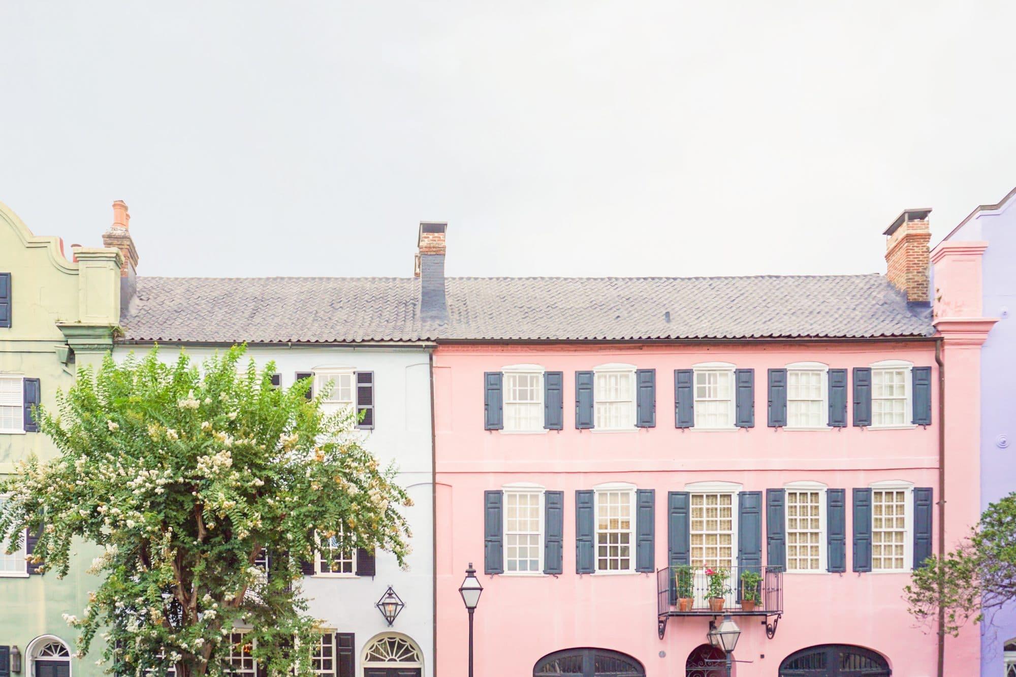 Charleston's Rainbow Row | www.ashleybrookedesigns.com