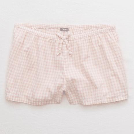 pink checked shorts 1