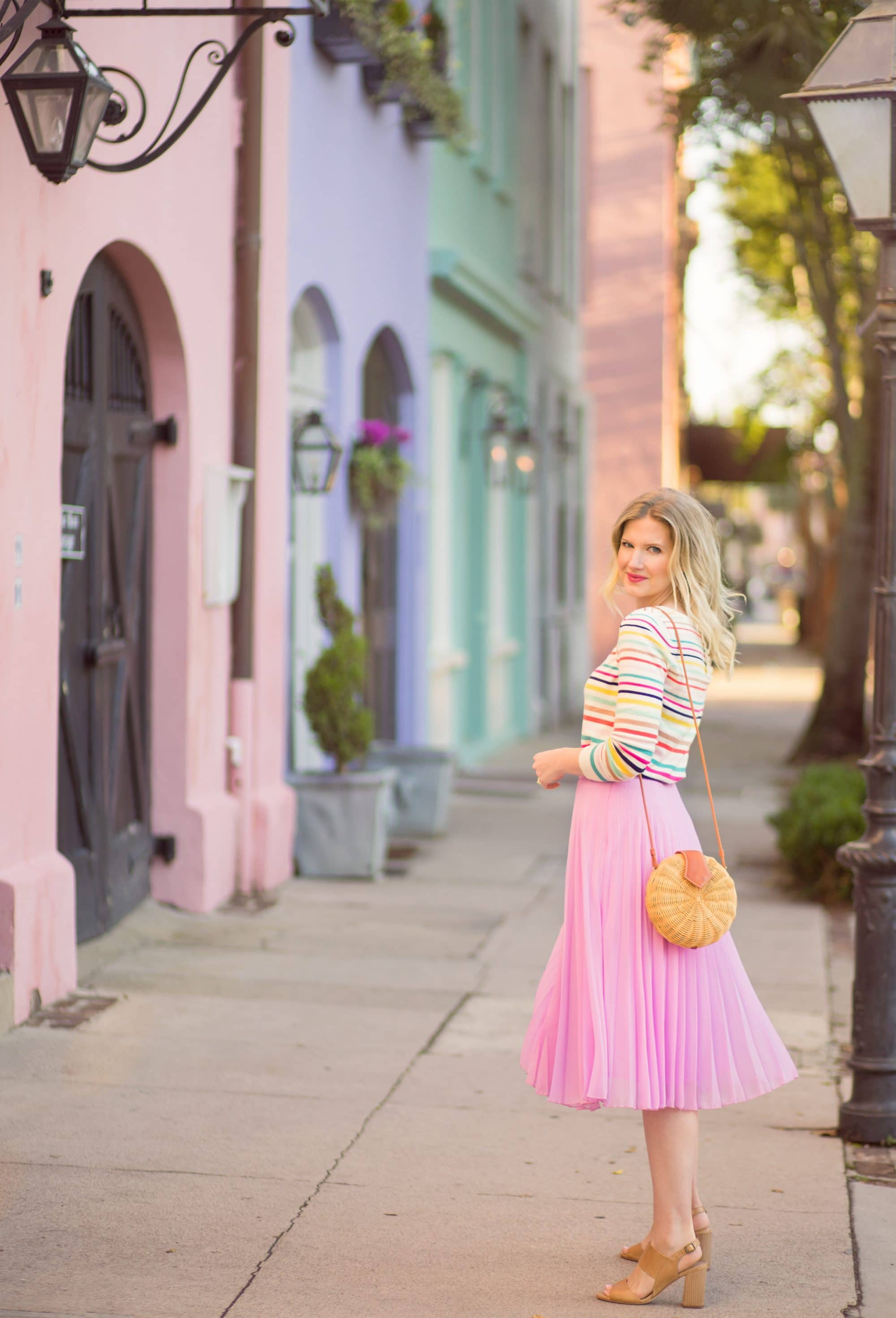 Dressing Like a Rainbow on Rainbow Row | www.ashleybrookedesigns.com