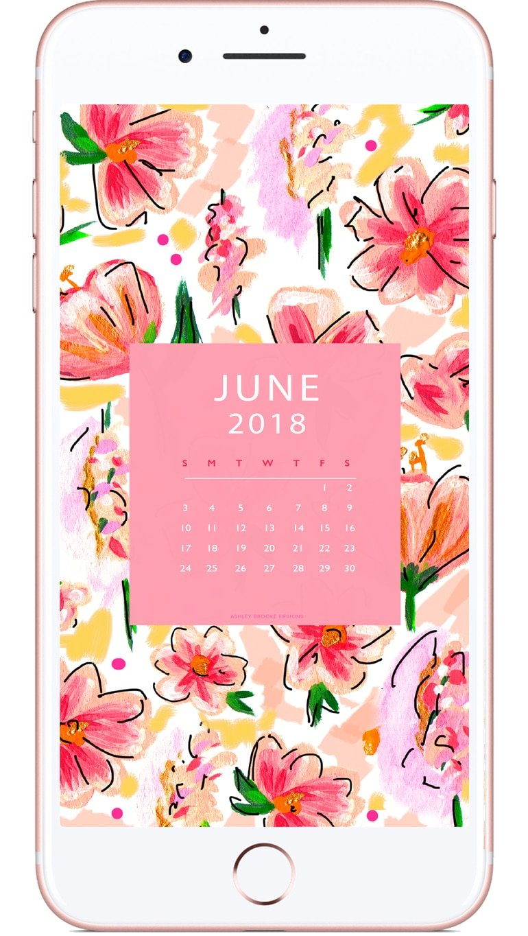 Free June Calendar Download | www.ashleybrookedesigns.com