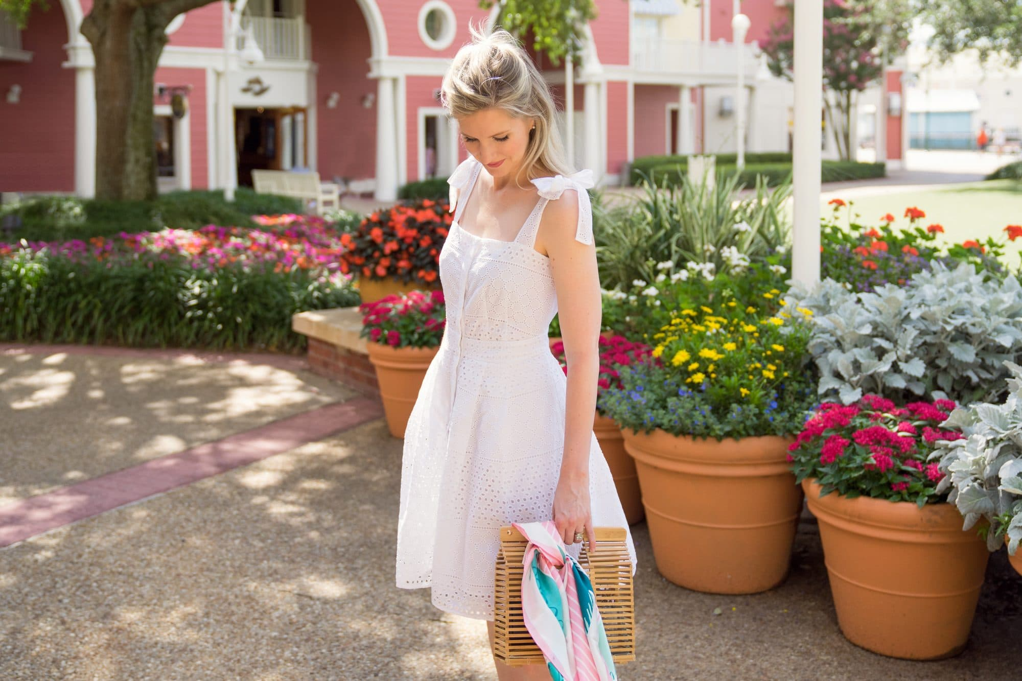Lord & Taylor White Eyelet Bow Dress | Rachel Roy - www.ashleybrookedesigns.com