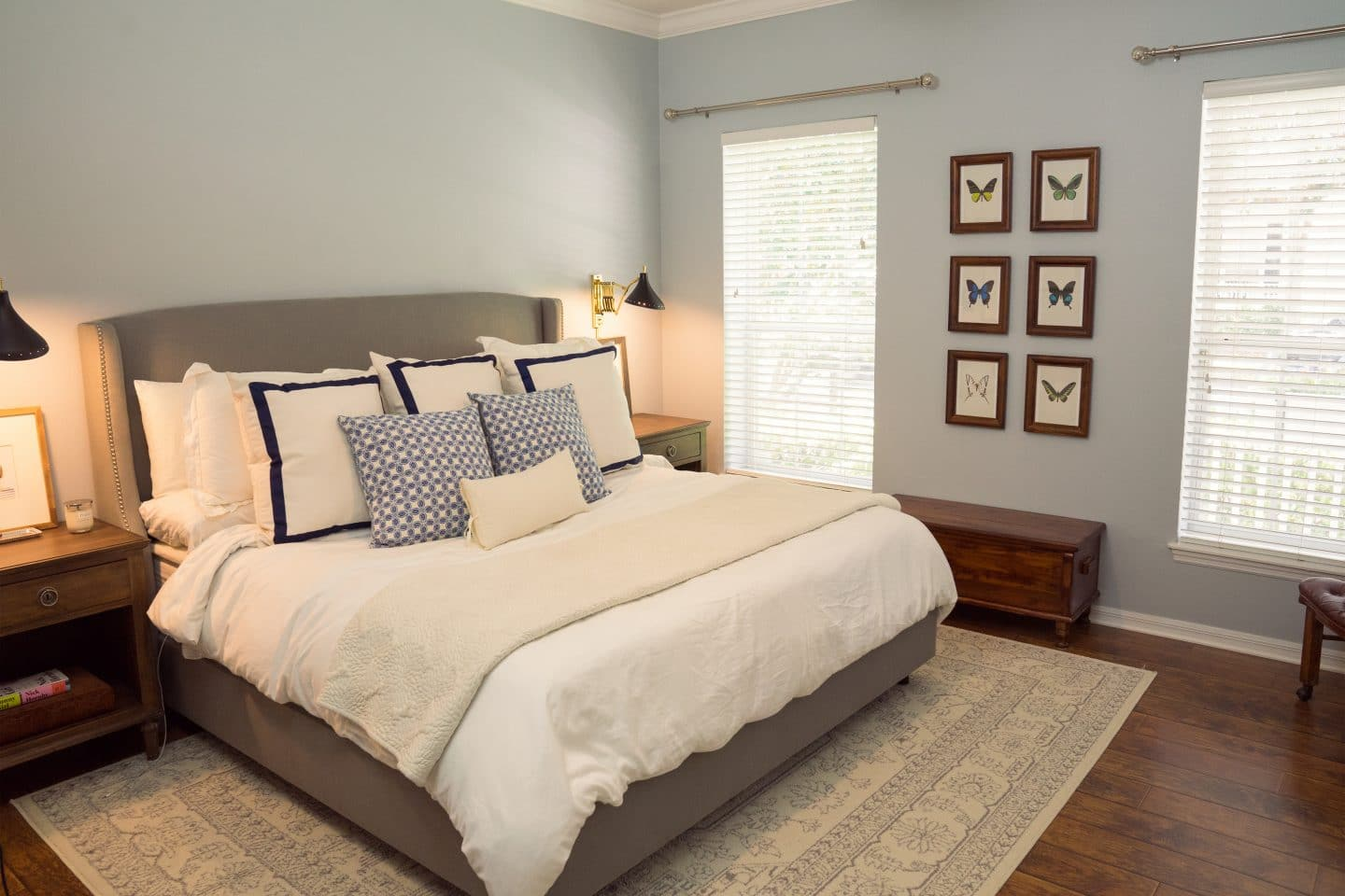 Master Bedroom Makeover - Picking White Paint - Ashley Brooke Designs