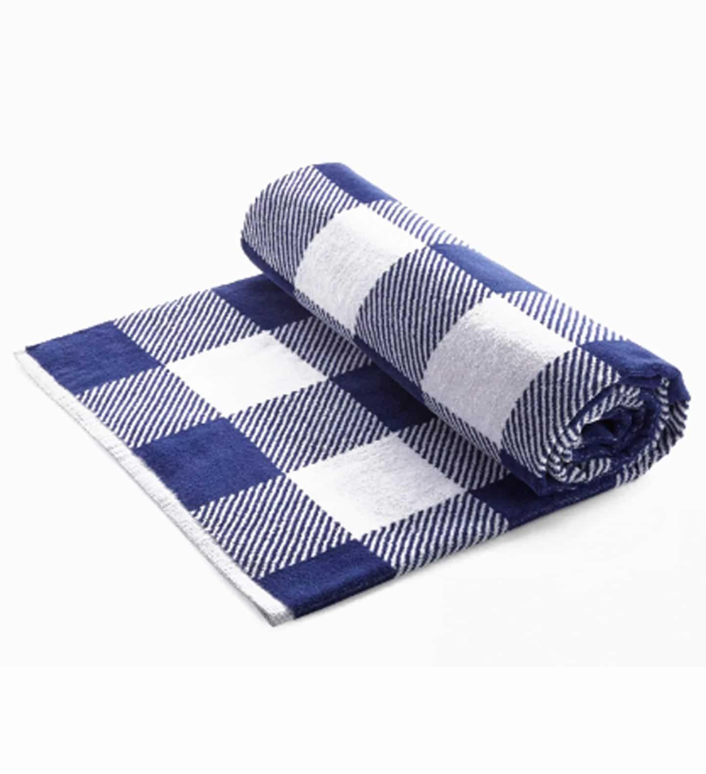 gingham beach towel
