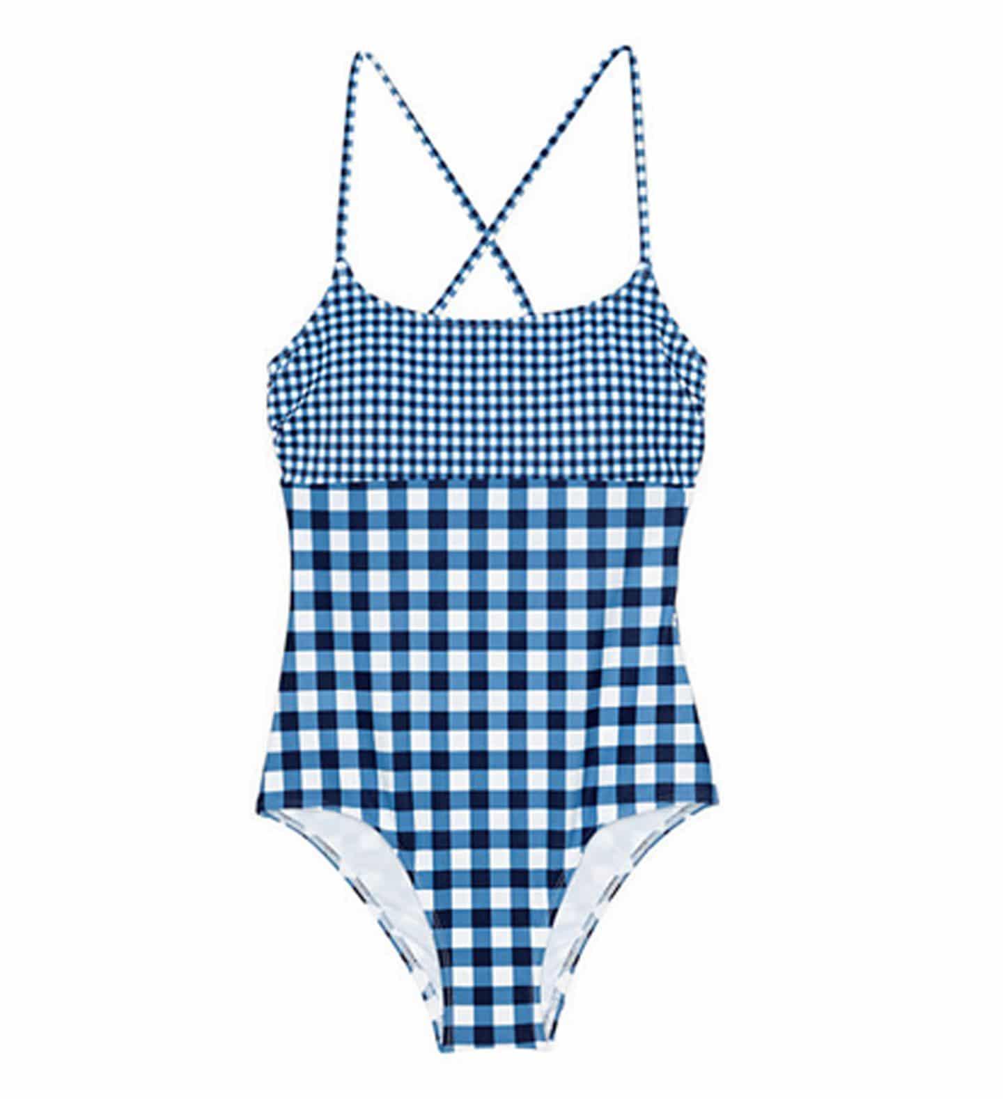 gingham one piece swimsuit | www.ashleybrookedesigns.com