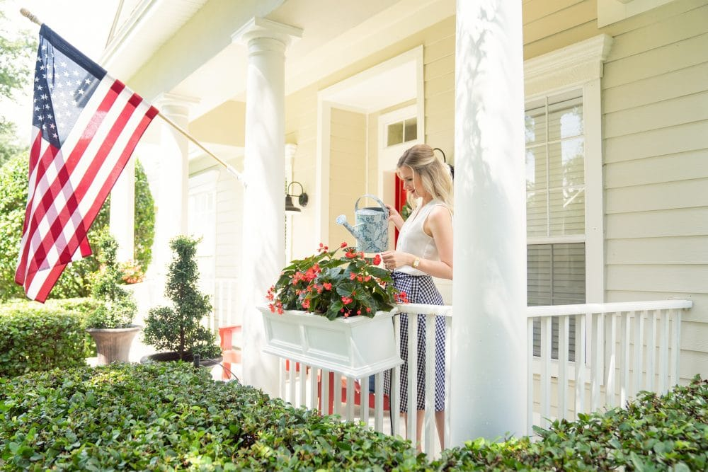 Front Porch Flower Boxes   www.ashleybrookedesigns.com
