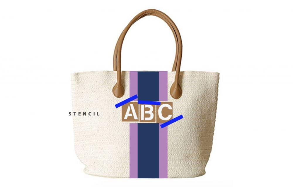 How to DIY a Painted Monogram Beach Tote | www.ashleybrookedesigns.com