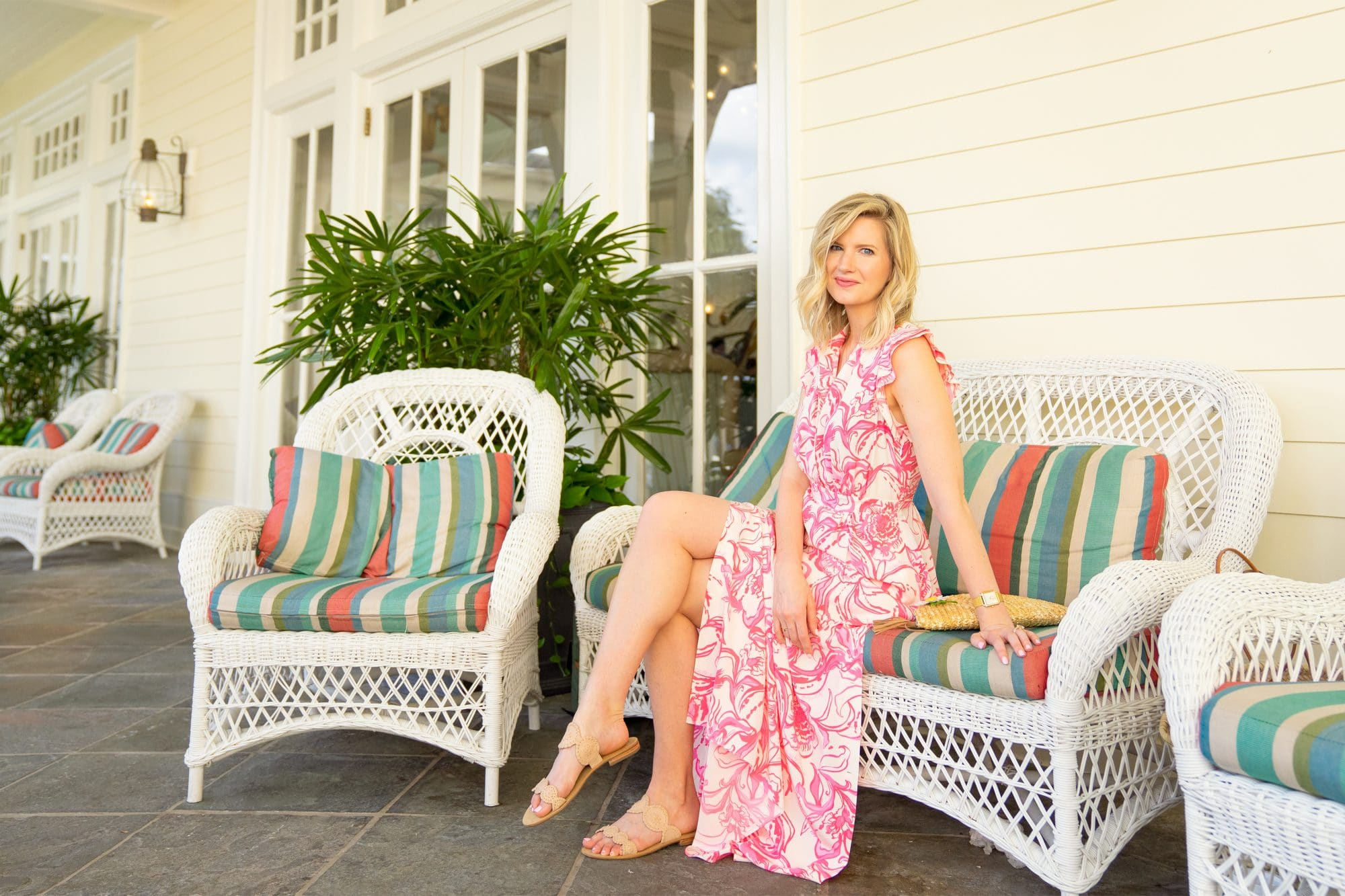Lilly Pulitzer x Goop Palm Beach Silk Maxi Dress | www.ashleybrookedesigns.com
