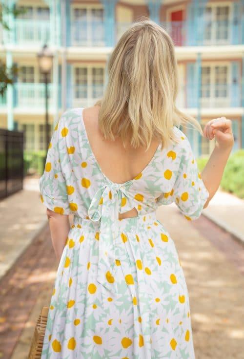 Daisy Print Midi Dress | www.ashleybrookedesigns.com