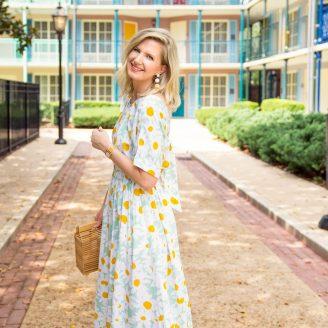 Daisy Print Midi Dress : My Favorite Purchase!