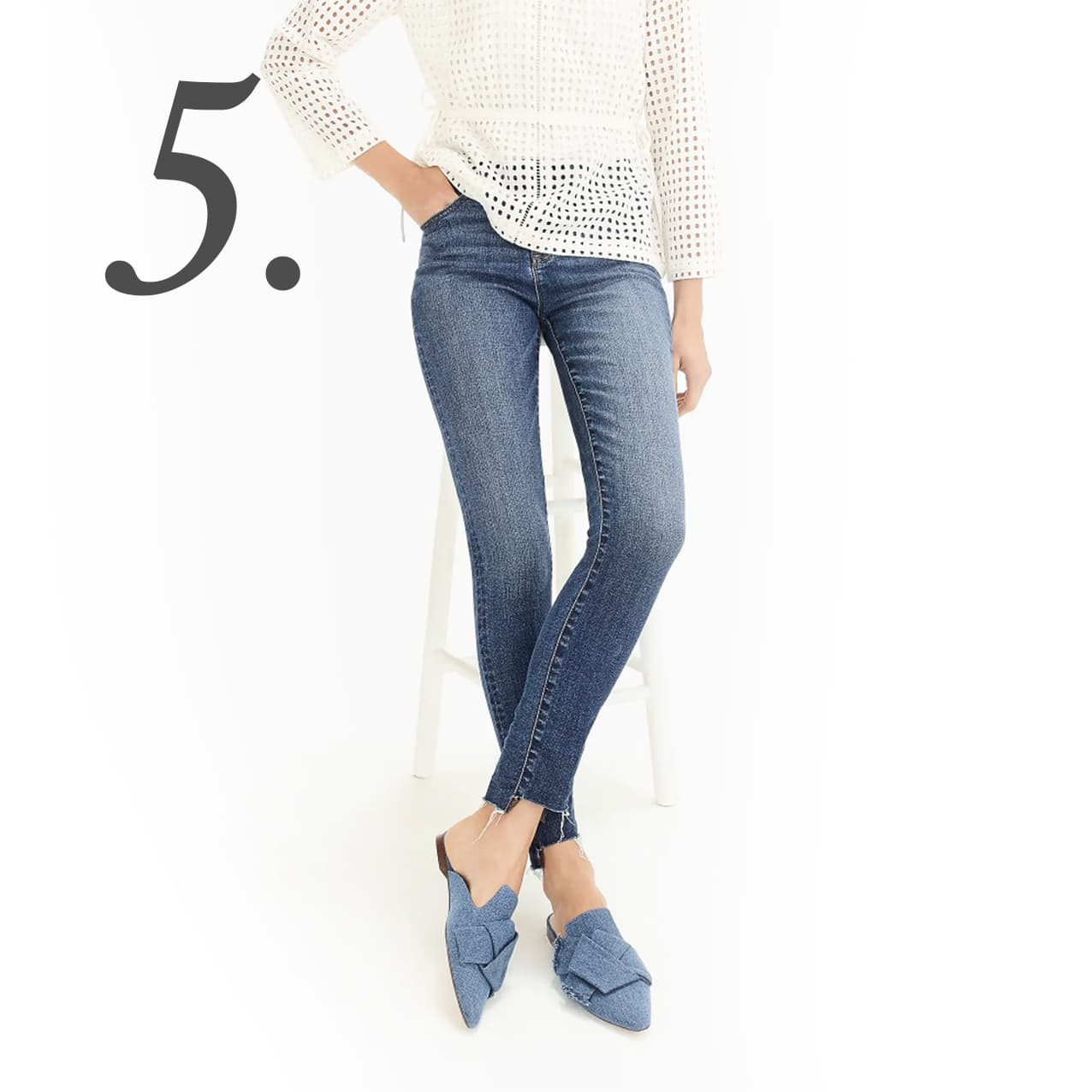 9 high-rise toothpick jean with step hem | www.ashleybrookedesigns.com