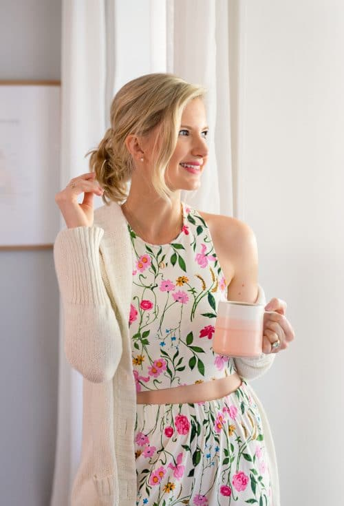 ASOS DESIGN Floral Tank And Highwaist Wide Leg PANTS Pajama Set | www.ashleybrookedesigns.com