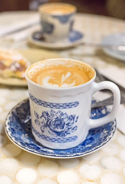 Blue and White Coffee Cup - v | www.ashleybrookedesigns.com