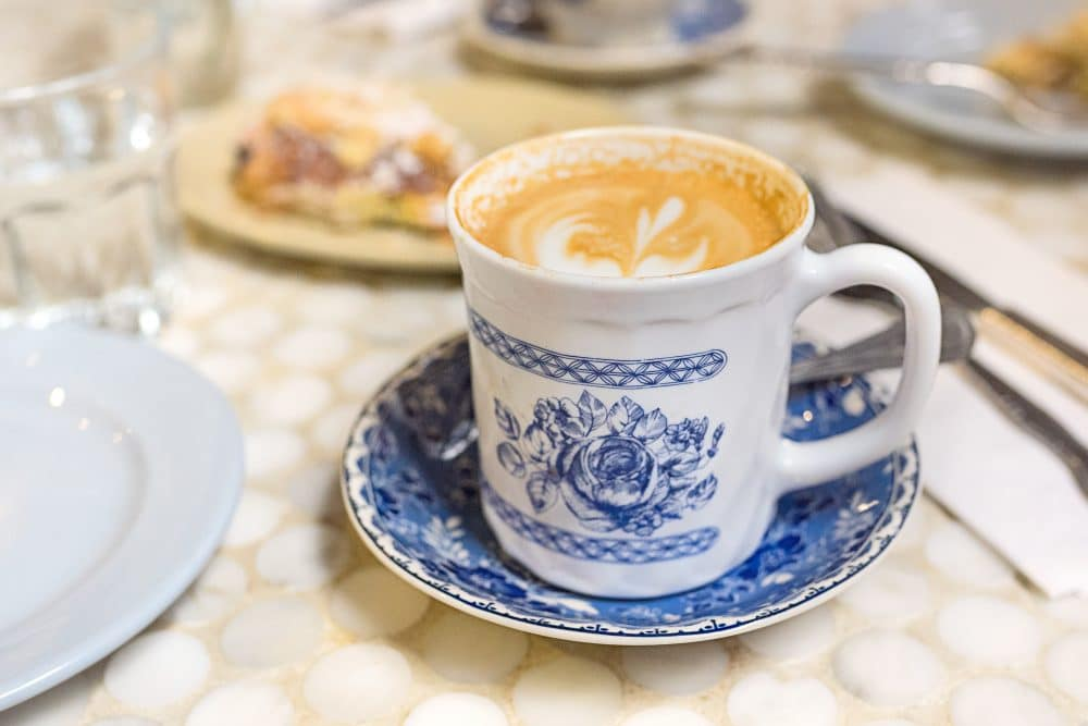 Blue and White Coffee Cup | www.ashleybrookedesigns.com