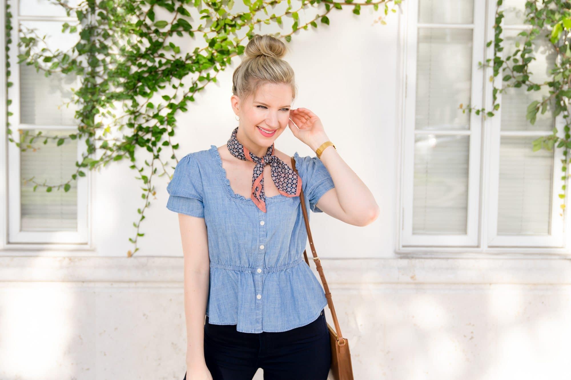 How to wear a Bandana Scarf | www.ashleybrookedesigns.com h