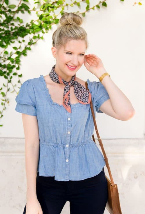 How to wear a Bandana Scarf | www.ashleybrookedesigns.com