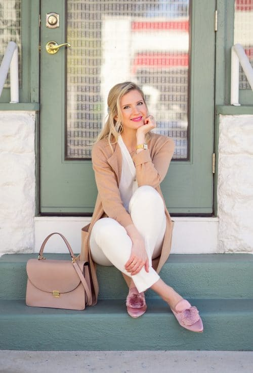 All White Fall Look | www.ashleybrookedesigns.com