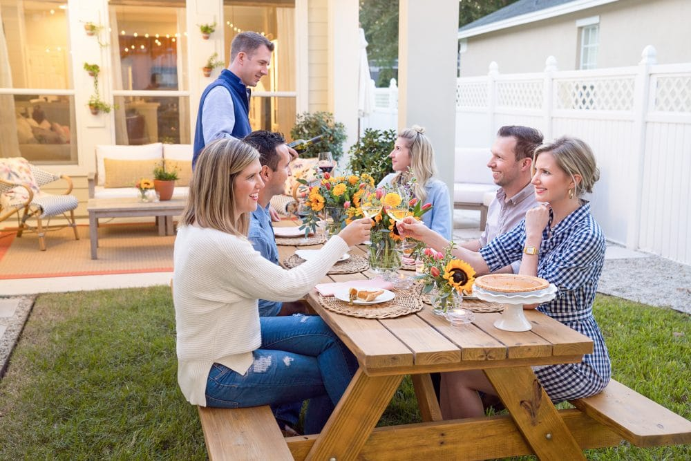 Fall Backyard Dinner With Friends v | www.ashleybrookedesigns.com