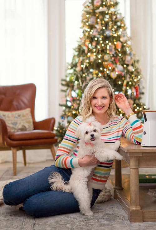 Ashley Brooke in Holiday Striped Sweater