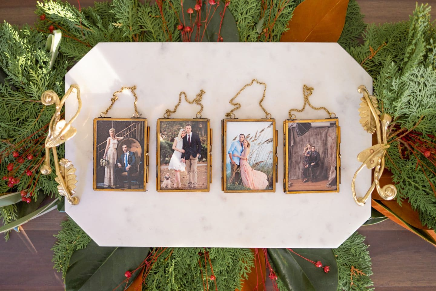 Our Christmas Card Ornament Tradition