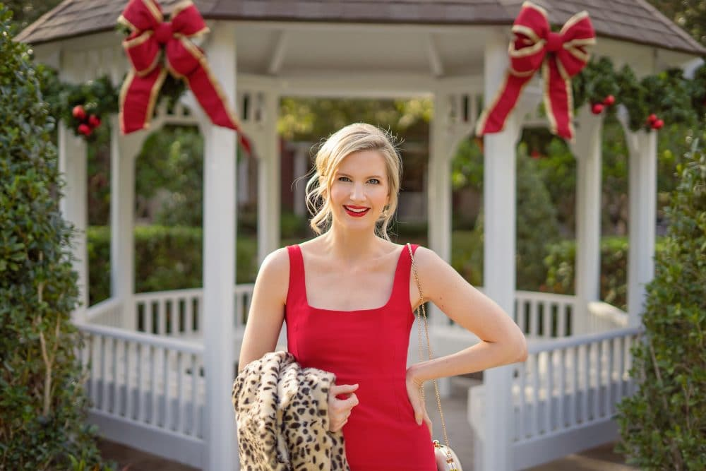 @ashleybrooke of Ashley Brooke Designs in Red Holiday Dress