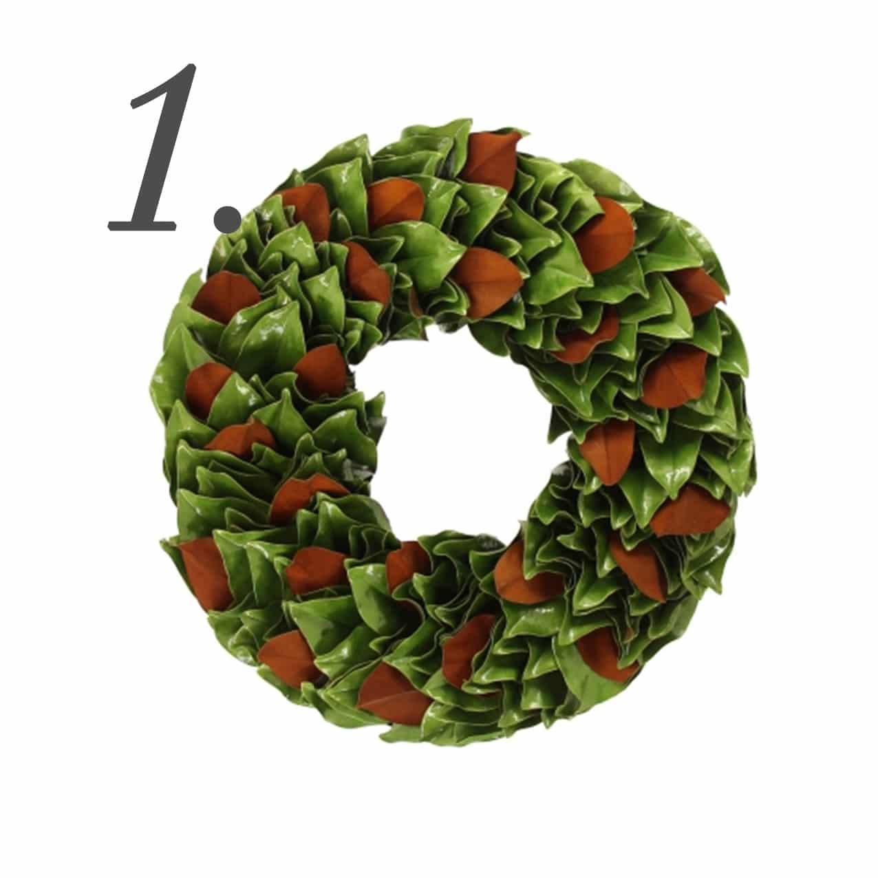 The Magnolia Company Granny Smith & Copper Lacquer Wreath | www.ashleybrookedesigns.com