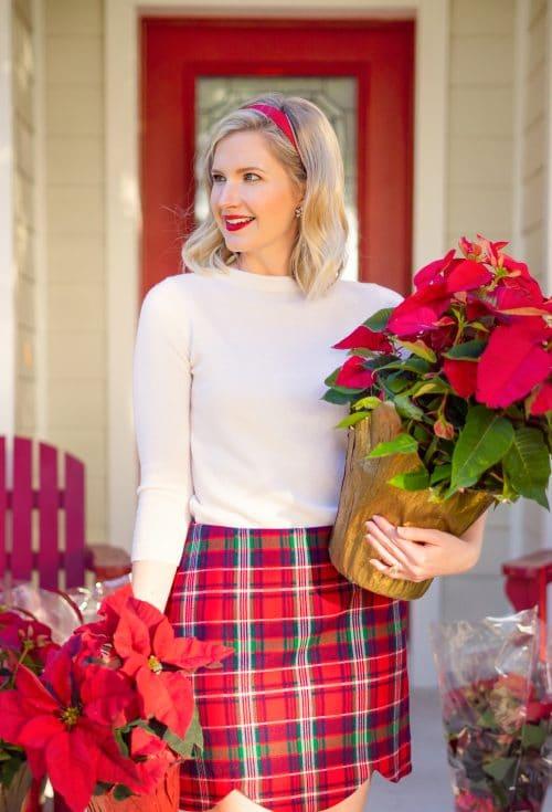 Holiday Plaid Skirt - Ashley Brooke on www.ashleybrookedesigns.com
