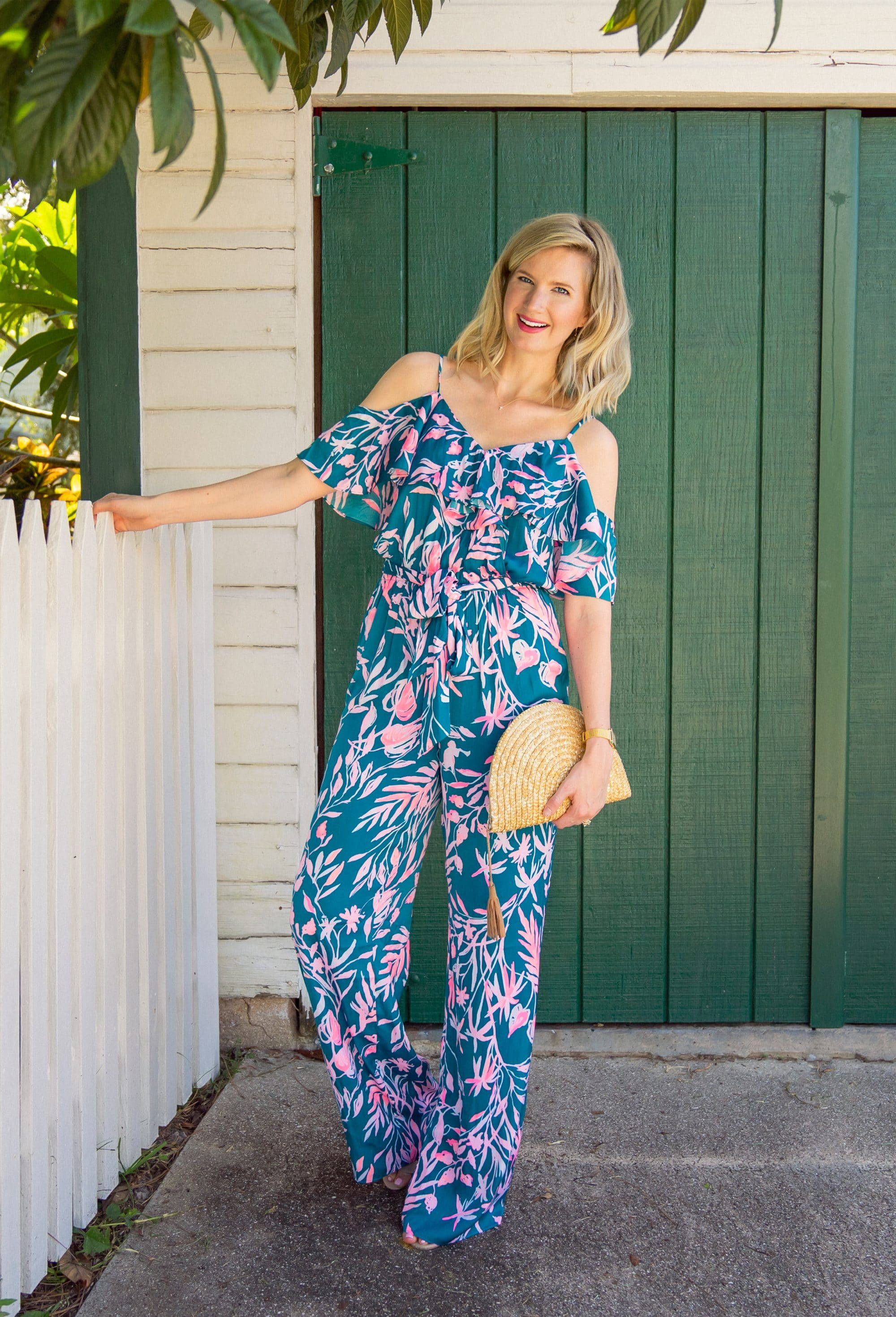 Ashley Brooke in Lilly Pulitzer Emilea Jumpsuit