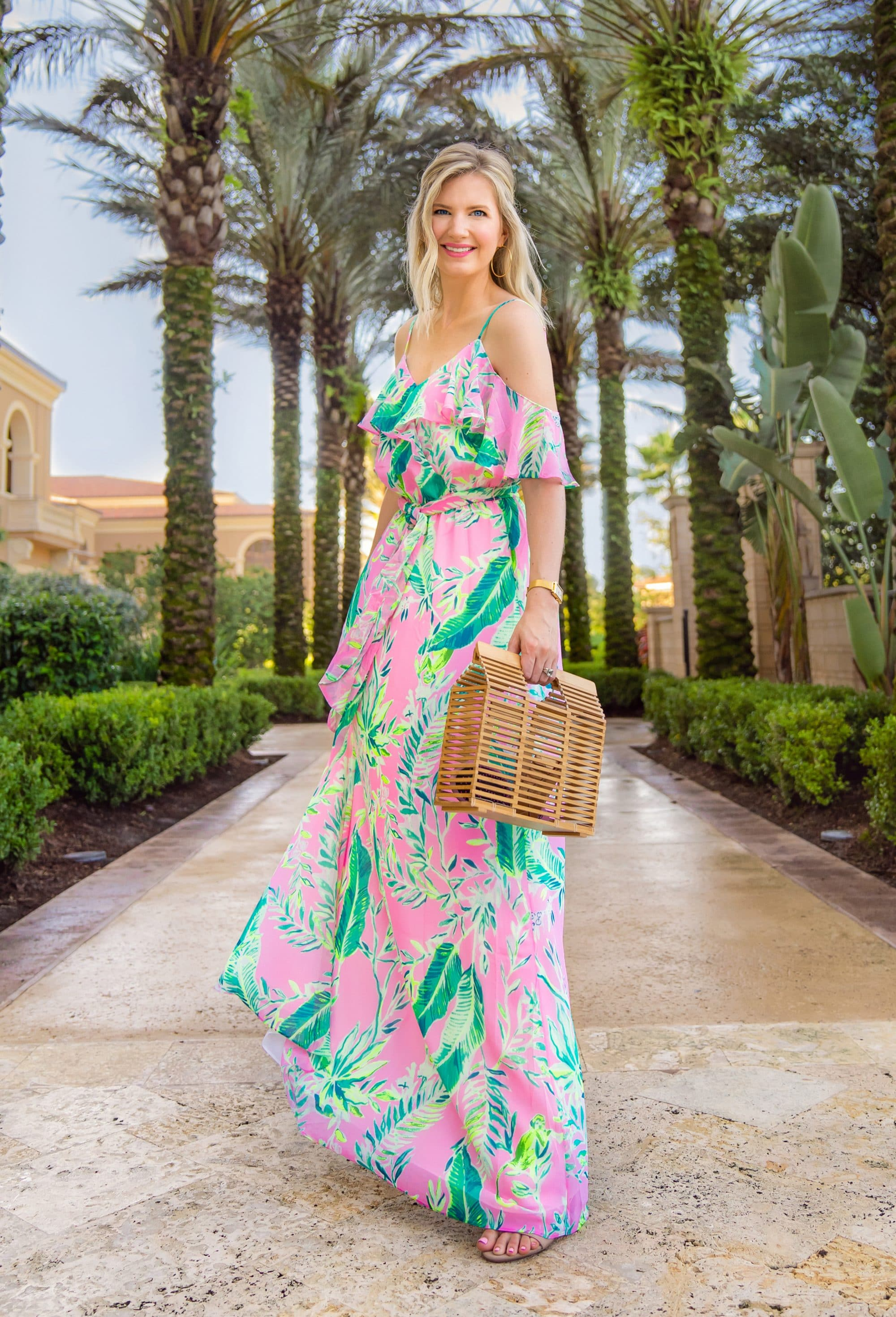 Ashley Brooke in Lilly Pulitzer Zadie Maxi Dress