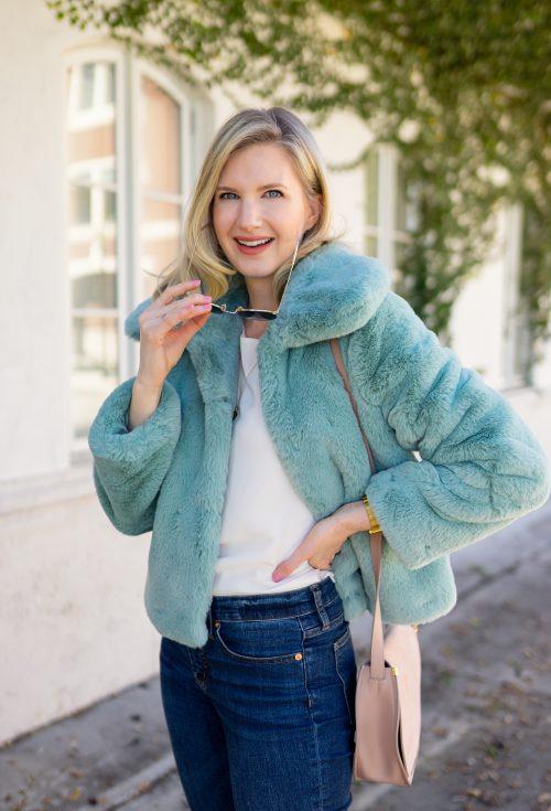Ashley Brooke in Faux Fur Jacket