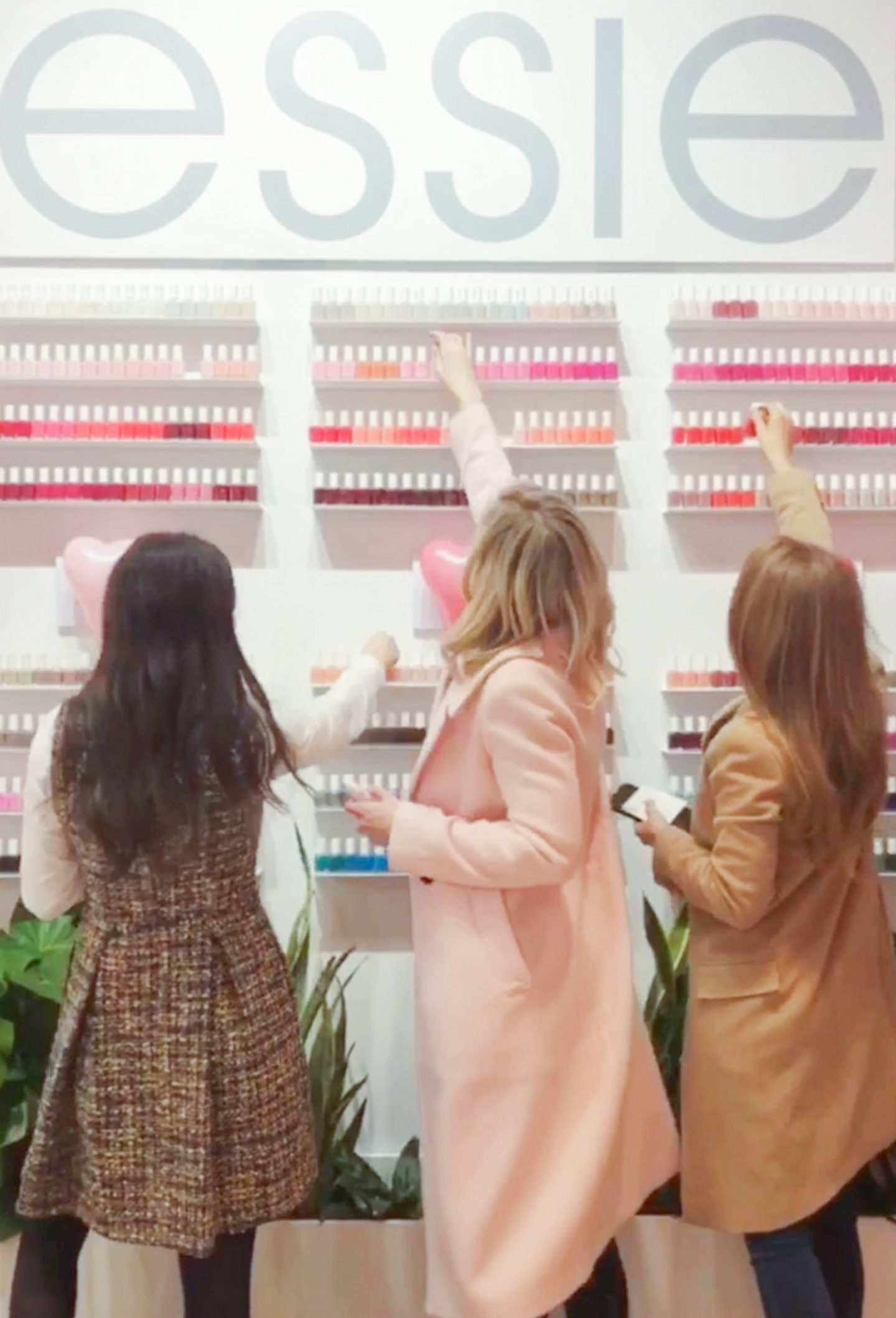 Ashley Brooke, Carly, and Mackenzie Horan at ESSIE event in NYC