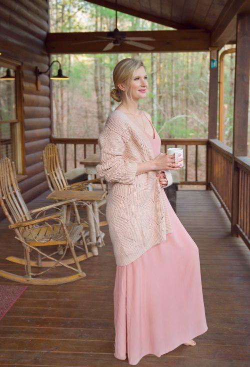Pink Sweater and Dress - Blue Ridge Georgia - www.ashleybrookedesigns.com