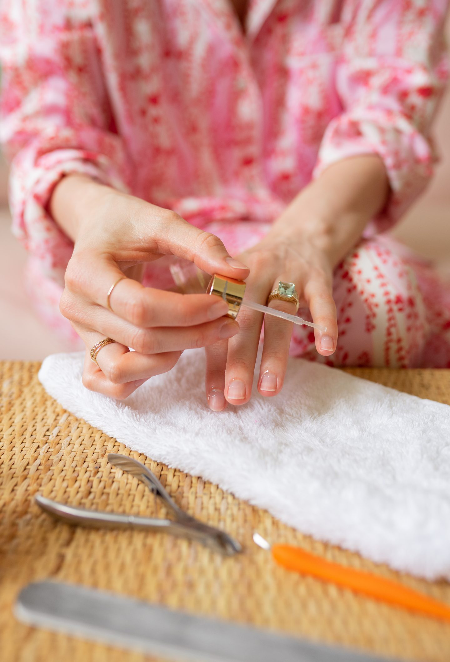 Ashley Brooke shows how to do an at-home manicure on www.ashleybrookedesigns.com