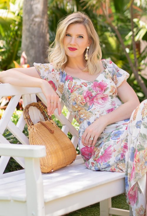 Ashley Brooke on Floral Midi Dresses on www.ashleybrookedesigns.com