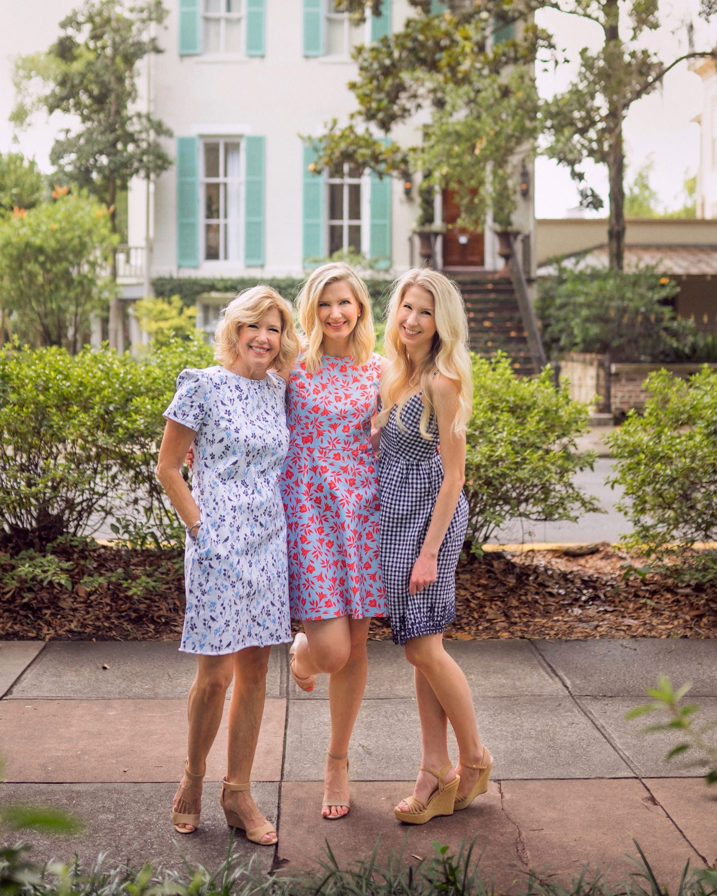 Ashley Brooke with her mom and sister in Savannah, GA on www.ashleybrookedesigns.com