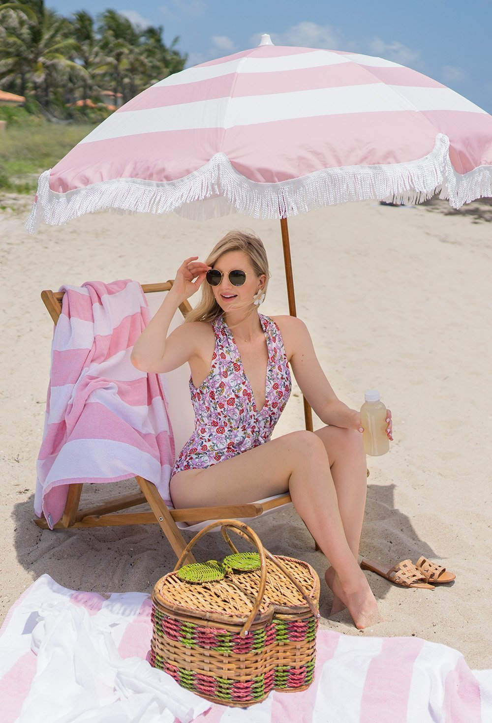 Ashley Brooke on the beach in Palm Beach, FL