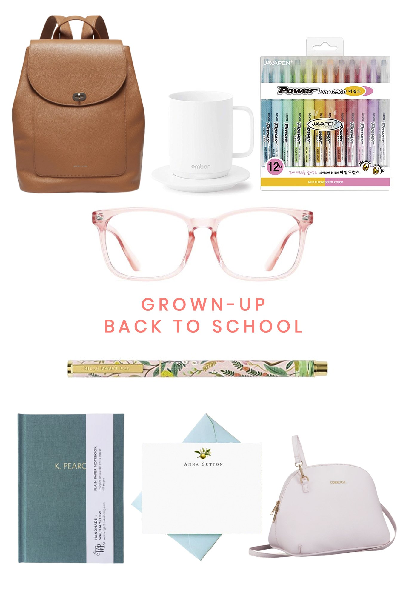 Grown-up Back to School Shopping List on Ashleybrookedesigns.com