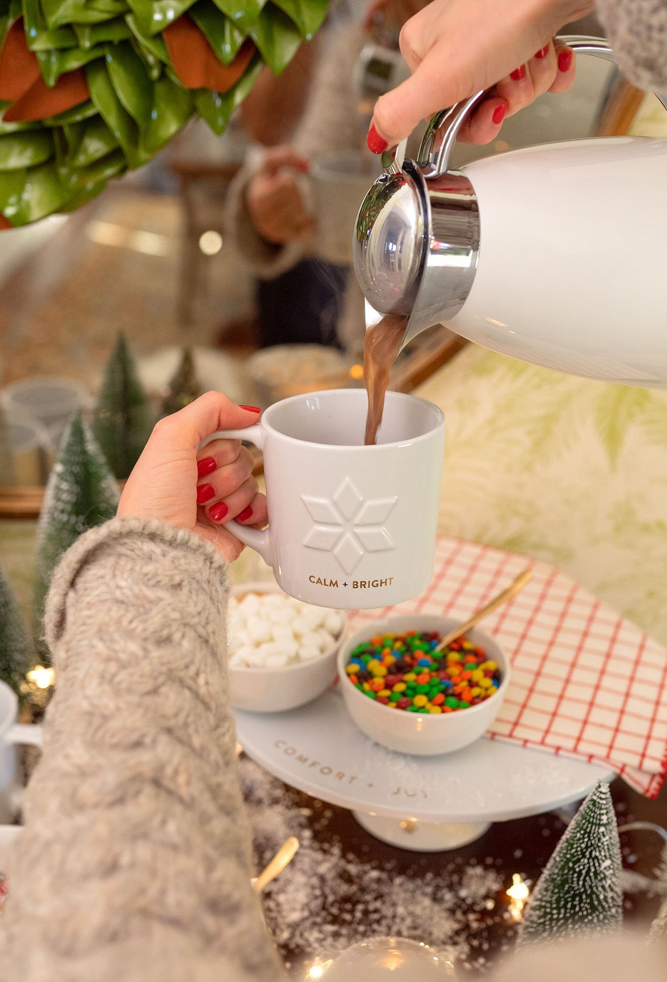 Pouring hot cocoa - Vegan hot chocolate recipe by Ashley Brooke