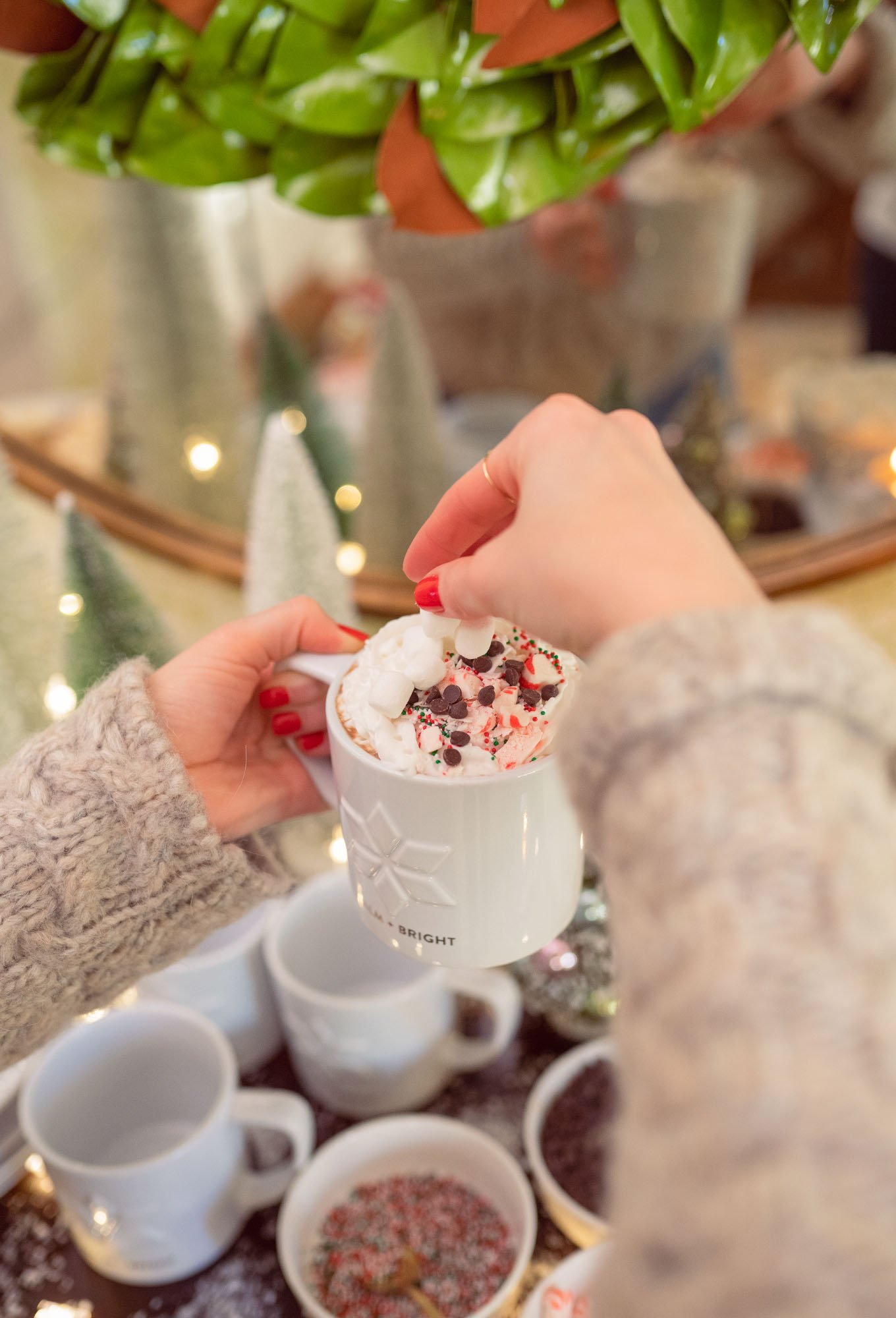 Ashley Brooke's hot cocoa bar including vegan hot chocolate recipe