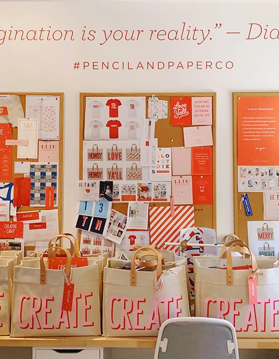 Gift Bags at Pencil and Paper Co Creative Camp - Ashley Brooke