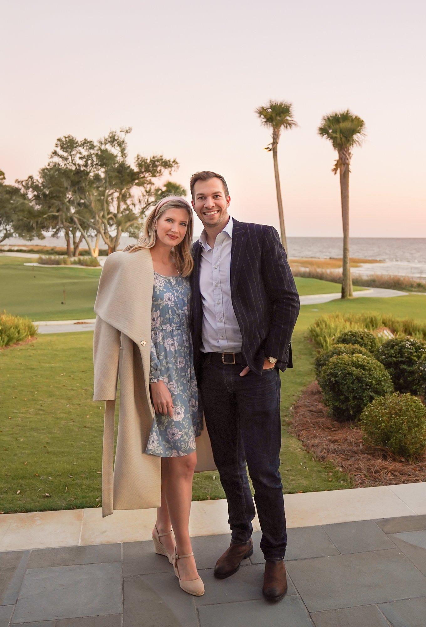 Ashley Brooke and Ryan in Sea Island, GA