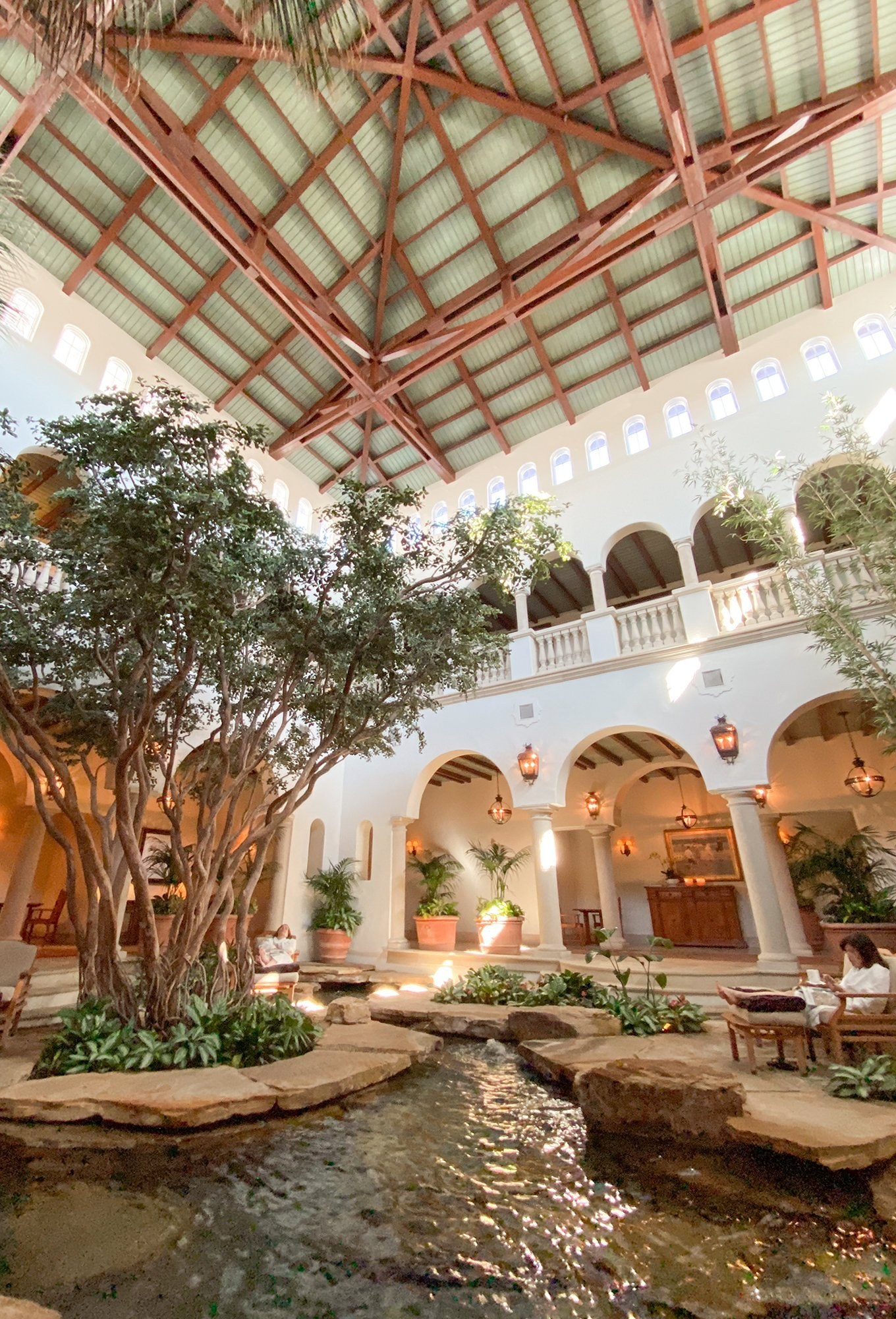 Inside the spa at The Cloister