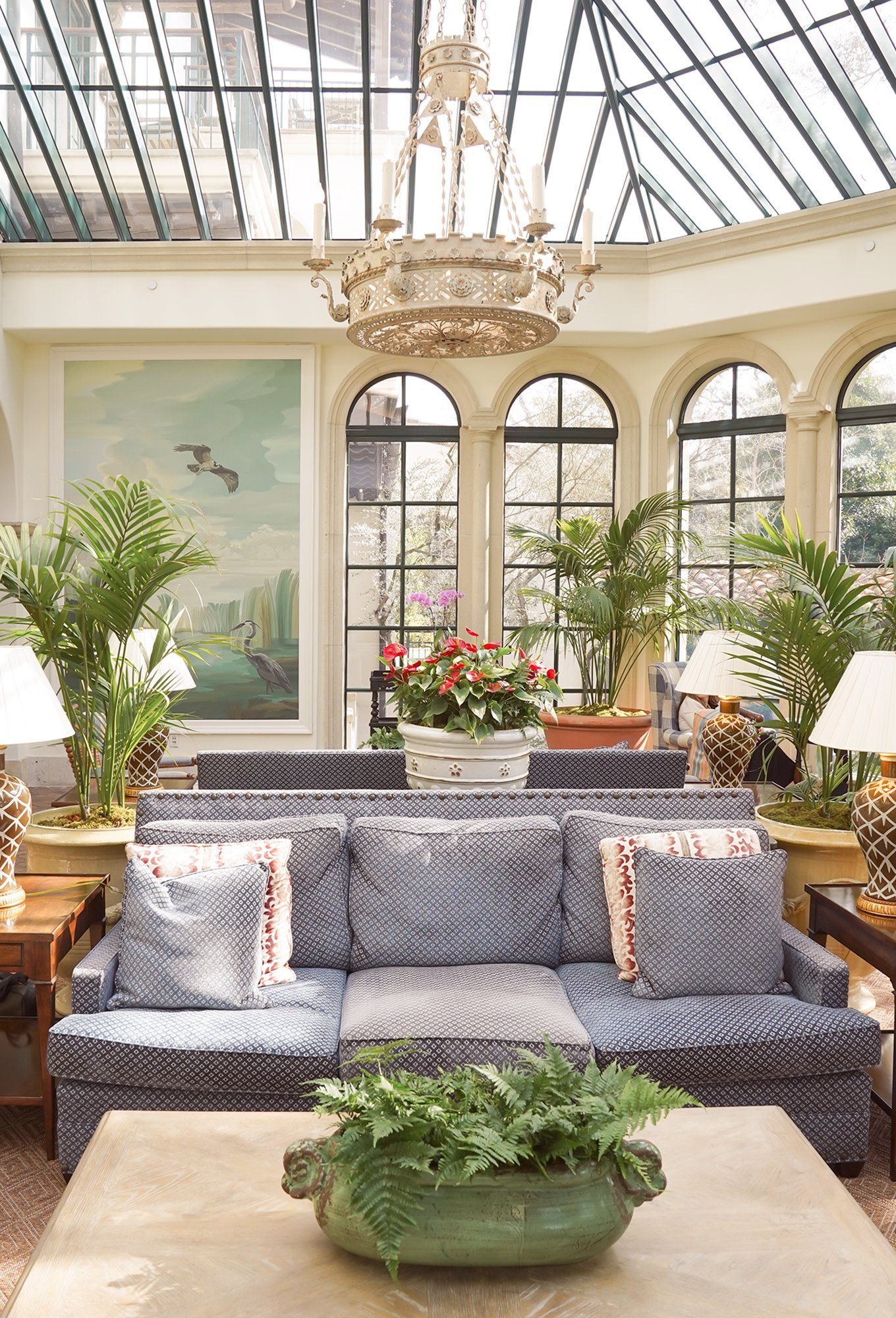 the blue room conservatory at The Cloister