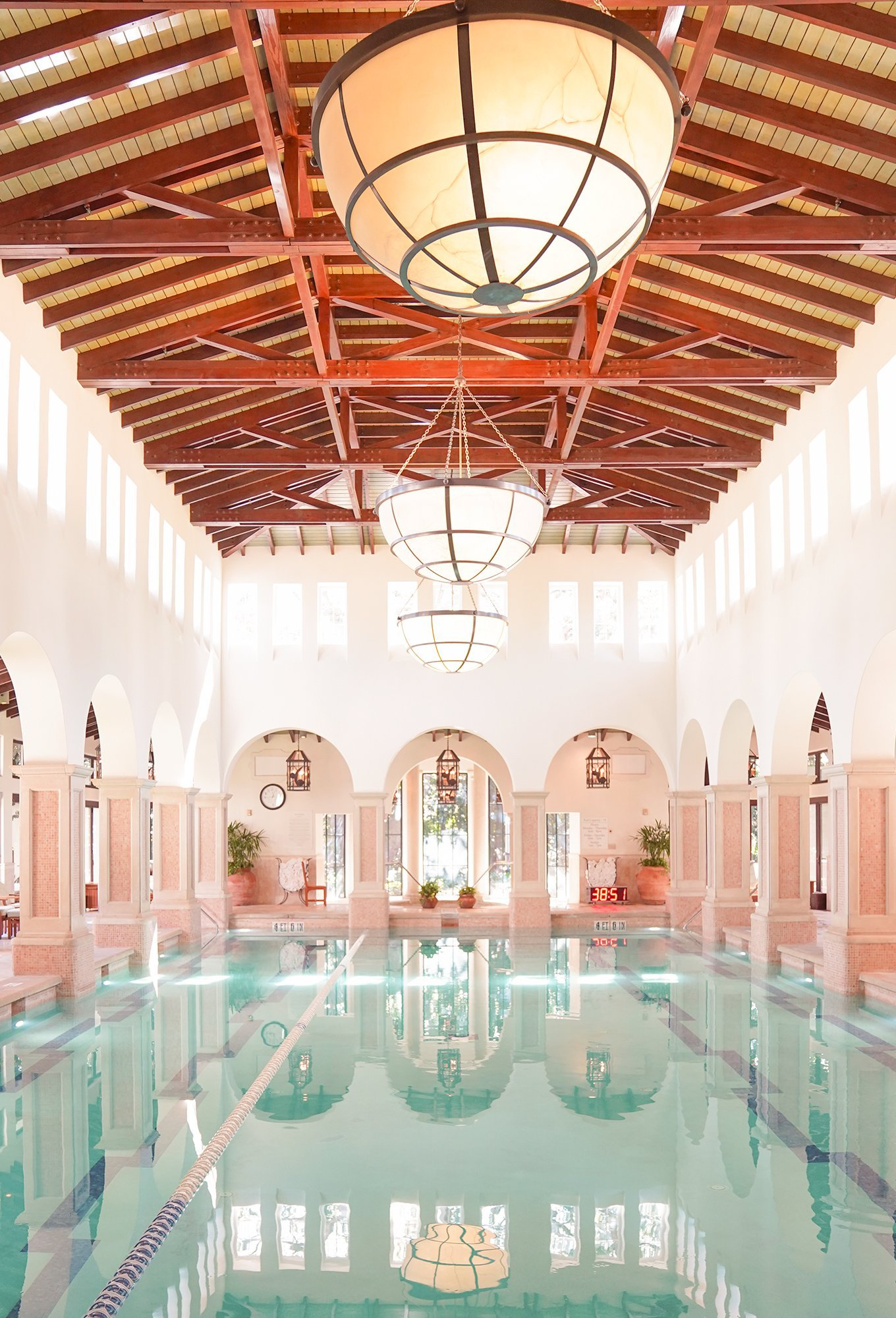 The indoor swimming pool at The Cloister