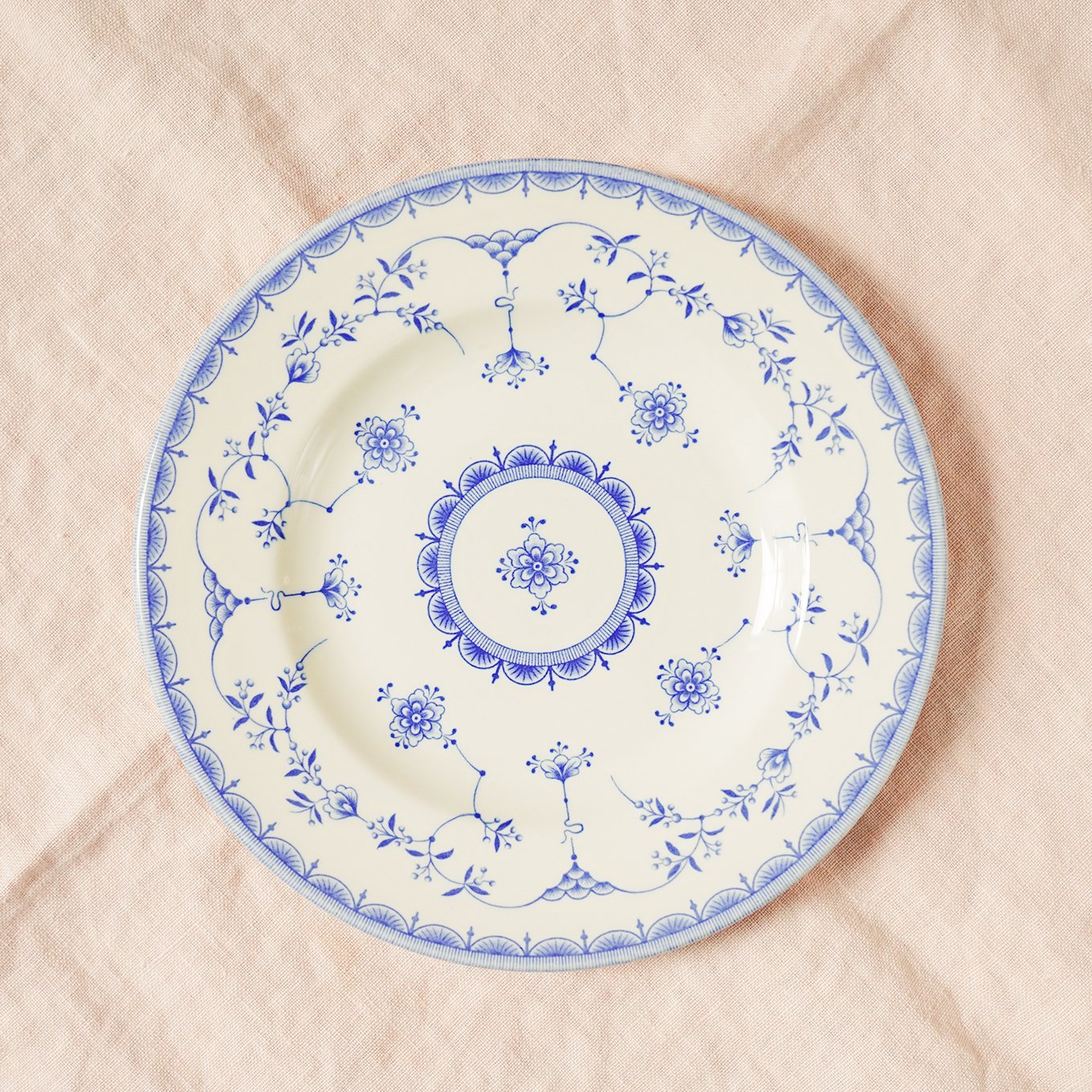 Queens Ingrid China - Vintage China plate on www.ashleybrookedesigns.com